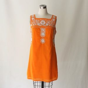 Tory Burch Embroidered Cotton Mexican Dress